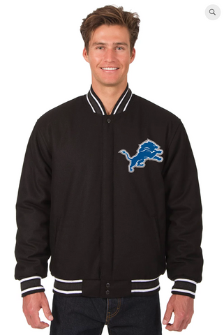 Detroit Lions Reversible Wool Varsity Jacket