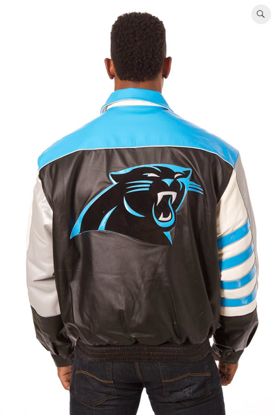 Carolina Panthers Hand Crafted Leather Classic Team Jacket
