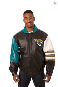 Jacksonville Jaguars Hand Crafted Leather Classic Jacket