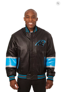Carolina Panthers Hand Crafted Leather Team Jacket