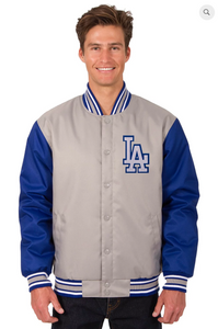 Los Angeles Dodgers Poly-Twill Varsity with Front & Back Logo