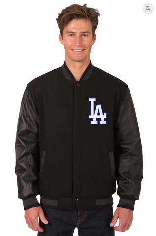 Los Angeles Dodgers Reversible Wool & Leather Varsity Jacket