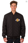 Los Angeles Lakers Reversible Wool & Leather Varsity Jacket
