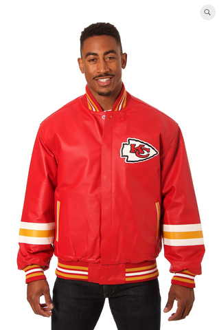 Kansas City Chiefs Hand Crafted Leather Team Jacket