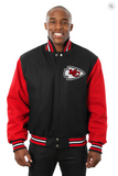 Kansas City Chiefs All Wool Two-Toned Jacket with Back Logo