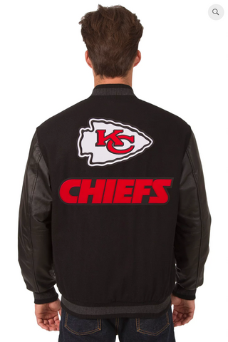 Kansas City Chiefs Reversible Varsity Jacket with Back Logo