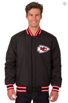 Kansas City Chief Reversible Wool Varsity Jacket With Back Logo & Red Trimming