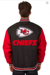 Kansas City Chiefs Poly-Twill Varsity Jacket with Front & Back Logo