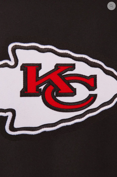 Kansas City Chiefs Reversible Wool Varsity Jacket with Red Collar Trimming