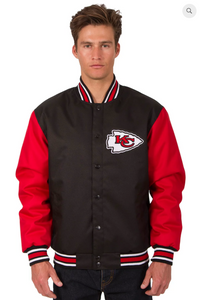 Kansas City Chiefs Poly-Twill Varsity Jacket with Front Logo