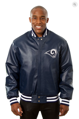 Los Angeles Rams Hand Crafted Leather Solid Team Jacket