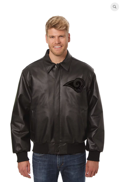 Los Angeles Rams Hand Crafted Leather Tonal Jacket