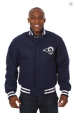 Los Angeles Rams All Wool Varsity Jacket with Back Logo