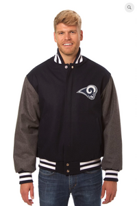 Los Angeles Rams All Wool Two-Toned Jacket with Back Logo