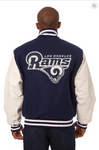 Los Angeles Rams Wool and Leather Varsity Jacket