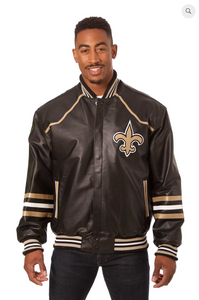 New Orleans Saints Hand Crafted Leather Team Jacket