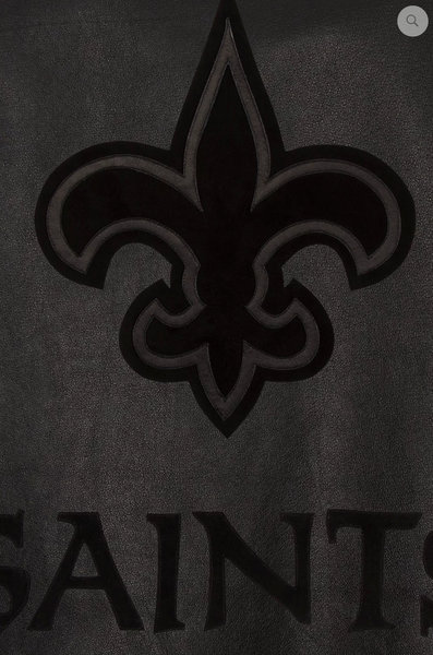 New Orleans Saints Hand Crafted Leather Tonal Jacket