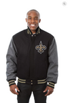 New Orleans Saints All Wool Two-Toned Jacket with Back Logo