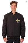 New Orleans Saints Reversible Varsity Jacket with Back Logo