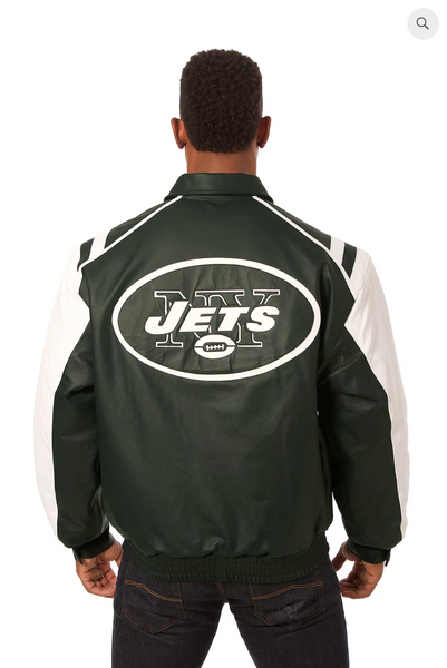 New York Jets Hand Crafted Leather Team Jacket