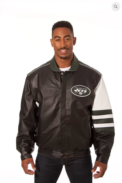 New York Jets Hand Crafted Leather Classic Jacket