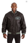 New York Jets Hand Crafted Leather Solid Team Jacket