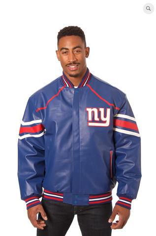 New York Giants Hand Crafted Leather Team Jacket