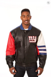 New York Giants Hand Crafted Leather Classic Varsity Jacket