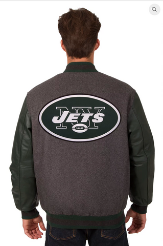 New York Jets Reversible Varsity Jacket with Back Logo