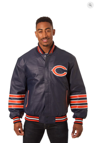 Chicago Bears Hand Crafted Leather Team Jacket