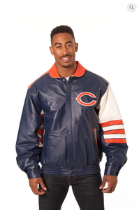 Chicago Bears Hand Crafted Leather Classic Jacket