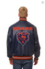 Chicago Bears Hand Crafted Leather Solid Team Jacket
