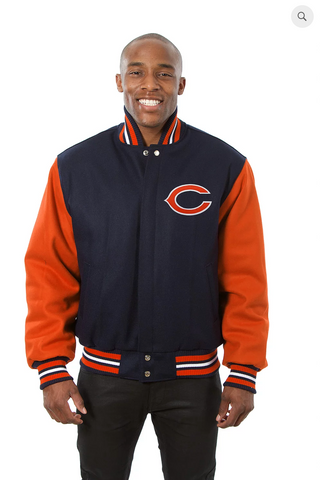 Chicago Bears Wool Two-Toned Jacket with Back Logo