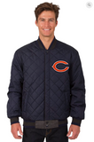 Chicago Bears Reversible Varsity Jacket with Back Logo
