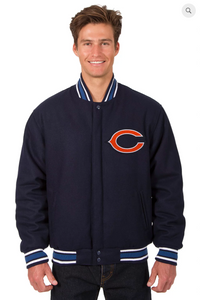 Chicago Bears Reversible Wool Varsity Jacket