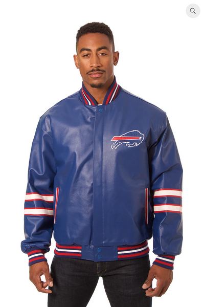 Buffalo Bills Hand Crafted Leather Team Jacket