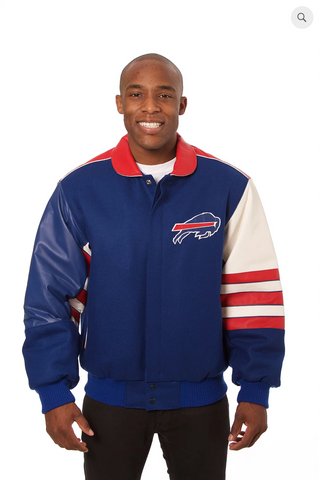 Buffalo Bills Wool and Leather Classic Jacket
