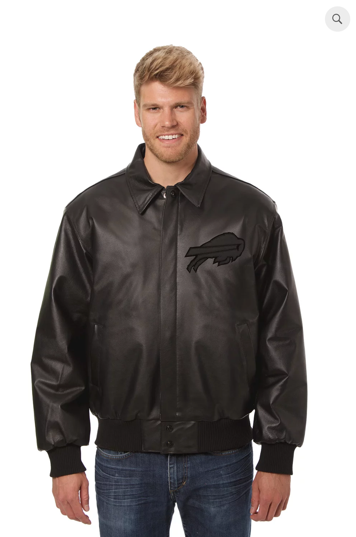 Buffalo Bills Hand Crafted Leather Tonal Jacket