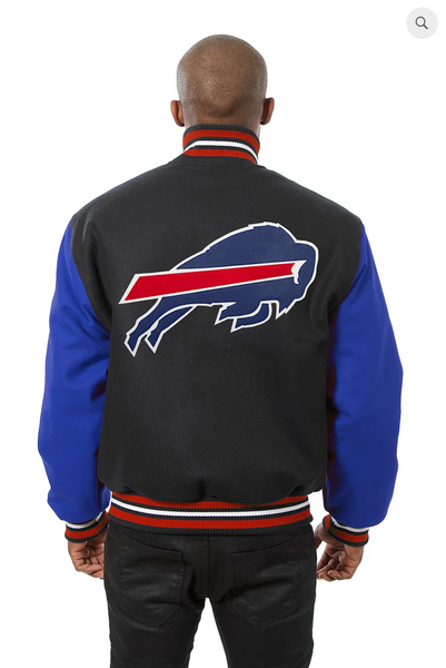 Buffalo Bills All Wool Two-Toned Jacket with Back Logo