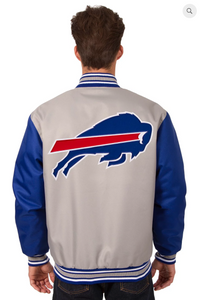 Buffalo Bills Poly-Twill Varsity with Front & Back Logo