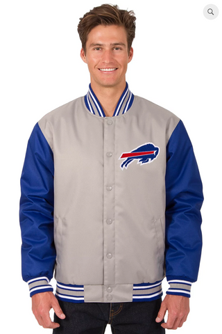 Buffalo Bills Poly-Twill Varsity Jacket with Front Logo