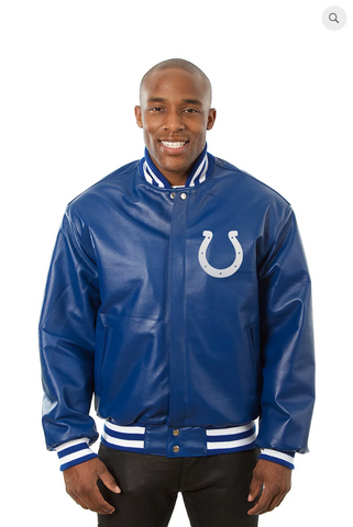 Indianapolis Colts Hand Crafted Leather Team Jacket