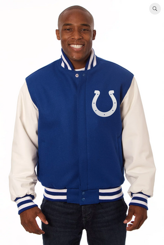 Indianapolis Colts Wool and Leather Varsity Jacket