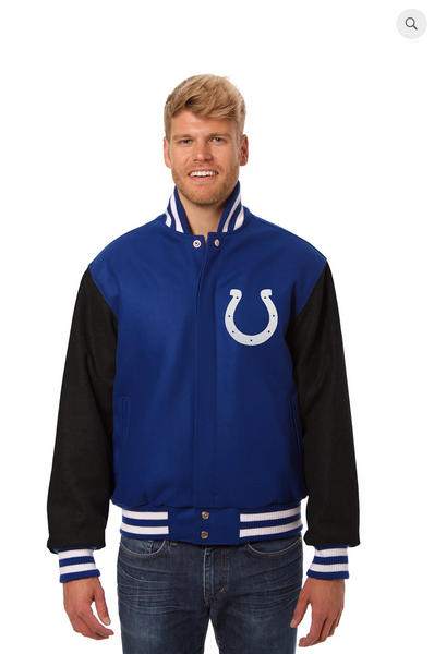 Indianapolis Colts All Wool Two-Toned Jacket