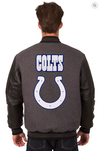 Indianapolis Colts Reversible Varsity Jacket with Back Logo
