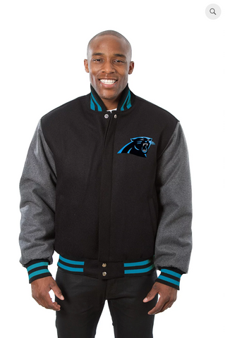 Carolina Panthers All Wool Two-Toned Jacket with Back Logo