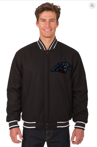 Carolina Panthers Reversible Wool Varsity Jacket