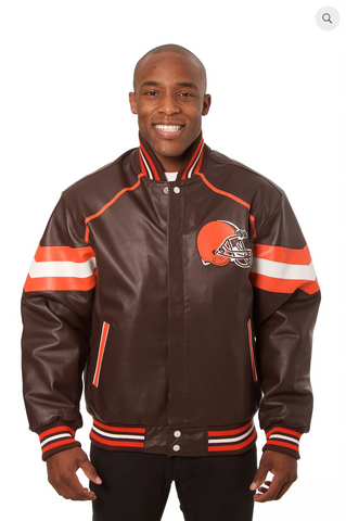Cleveland Browns Hand Crafted Leather Team Jacket