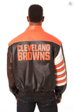Cleveland Browns Hand Crafted Leather Classic Varsity Jacket