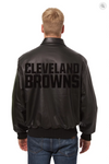 Cleveland Browns Hand Crafted Leather Tonal Jacket